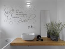 "Bathroom Wall Quote ""Soap is to the body..."" Wall Art Sticker, Vinyl Transfer"